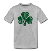 Wicked Awesome Shamrock Youth T-Shirt - heather gray