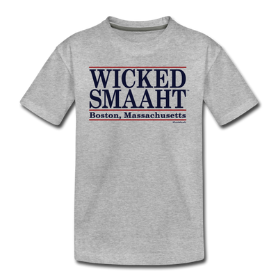 Wicked Smaaht Boston Bar T-Shirt - heather gray