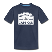 Welcome To Cape Cod Youth T-Shirt - navy