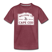 Welcome To Cape Cod Youth T-Shirt - heather burgundy