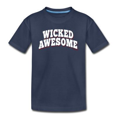 Wicked Awesome Arch Youth T-Shirt - navy