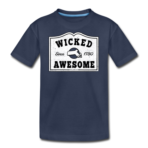 Wicked Awesome Mass T-Shirt - navy