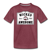 Wicked Awesome Mass T-Shirt - heather burgundy