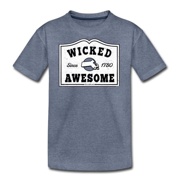Wicked Awesome Mass T-Shirt - heather blue