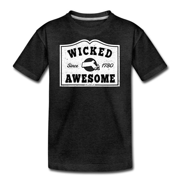 Wicked Awesome Mass T-Shirt - charcoal gray
