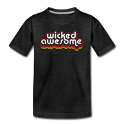 Wicked Awesome Retro Youth T-Shirt - charcoal gray