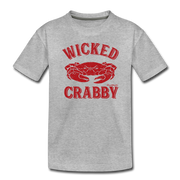 Wicked Crabby Toddler T-Shirt - heather gray