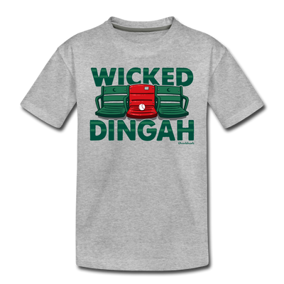 Wicked Dingah Toddler T-Shirt - heather gray