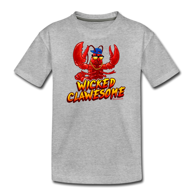 Wicked Clawesome Youth T-Shirt - heather gray