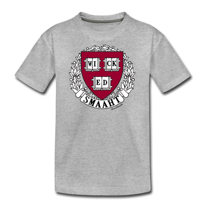 Wicked Smaaht College Youth T-Shirt - heather gray