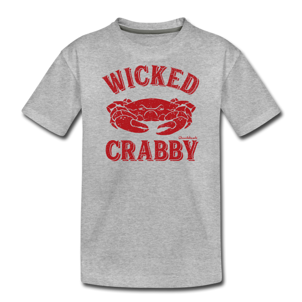 Wicked Crabby Youth T-Shirt - heather gray
