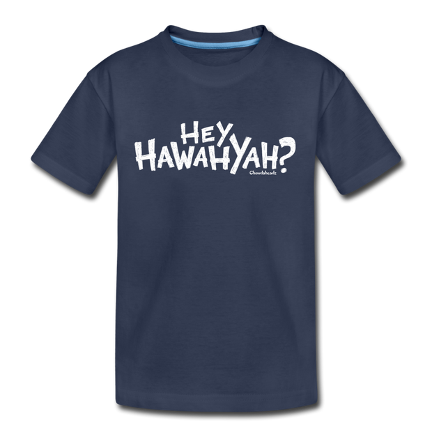 Hey Hawahyah Youth T-Shirt - navy
