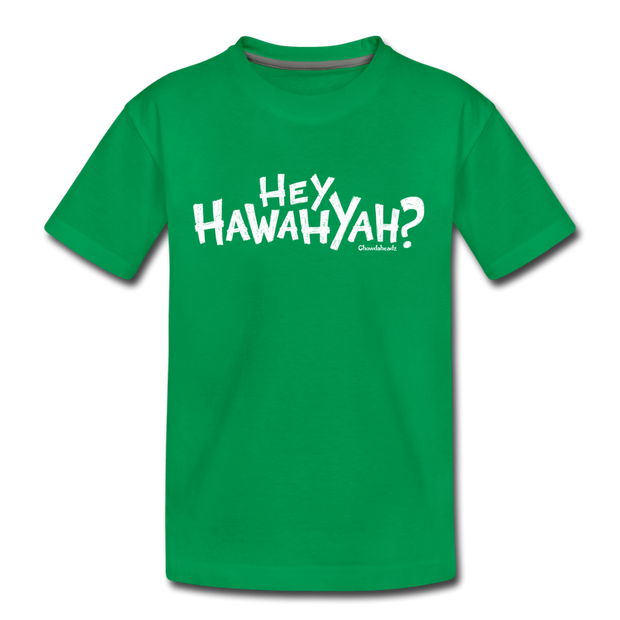 Hey Hawahyah Youth T-Shirt - kelly green