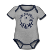 Camp Belichick Infant One Piece - heather gray/navy