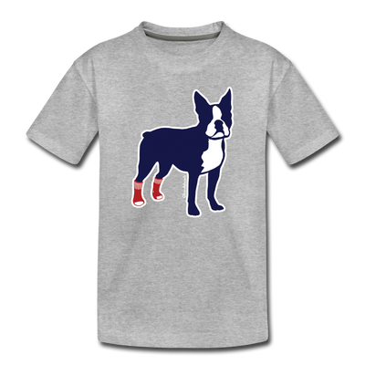 Socks On Boston Terrier Toddler T-Shirt - heather gray
