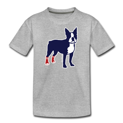 Socks On Boston Terrier Youth T-Shirt - heather gray