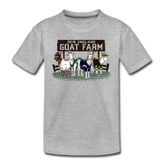 New England GOAT Farm Toddler T-Shirt - heather gray