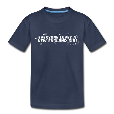 Everyone Loves A New England Girl Youth T-Shirt - navy
