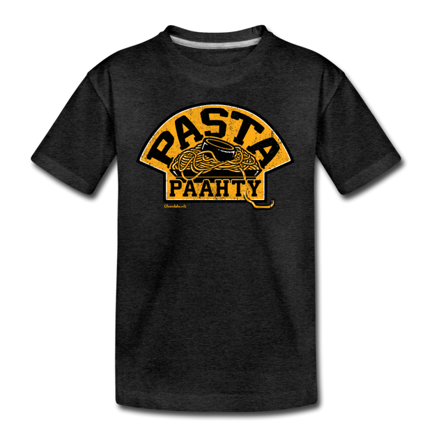 Pasta Paahty Youth T-Shirt - charcoal gray