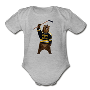Beware of Boston Bear Infant One Piece - heather gray