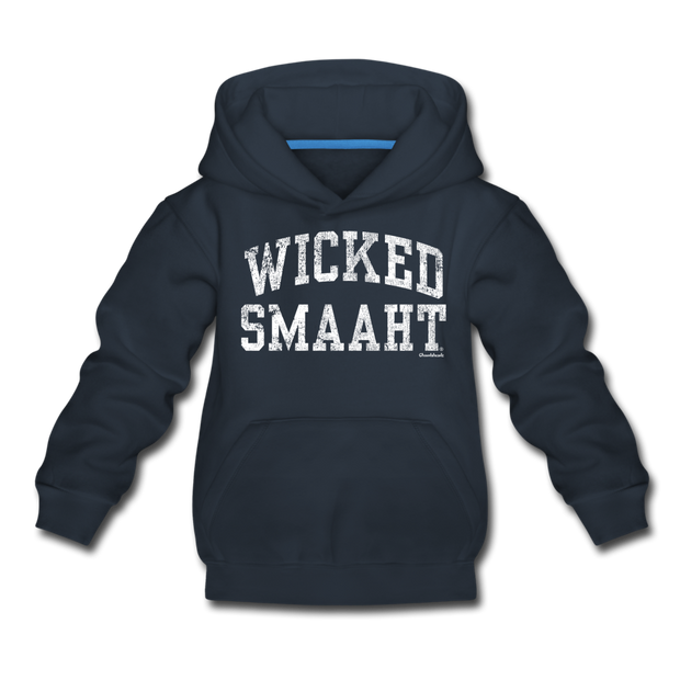 Wicked Smaaht Youth Sweatshirt - navy