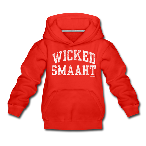 Wicked Smaaht Youth Sweatshirt - red
