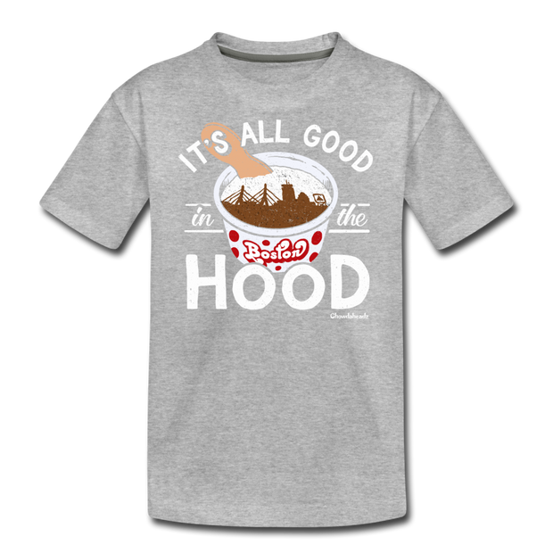 It's All Good In The Hood Youth T-Shirt - heather gray