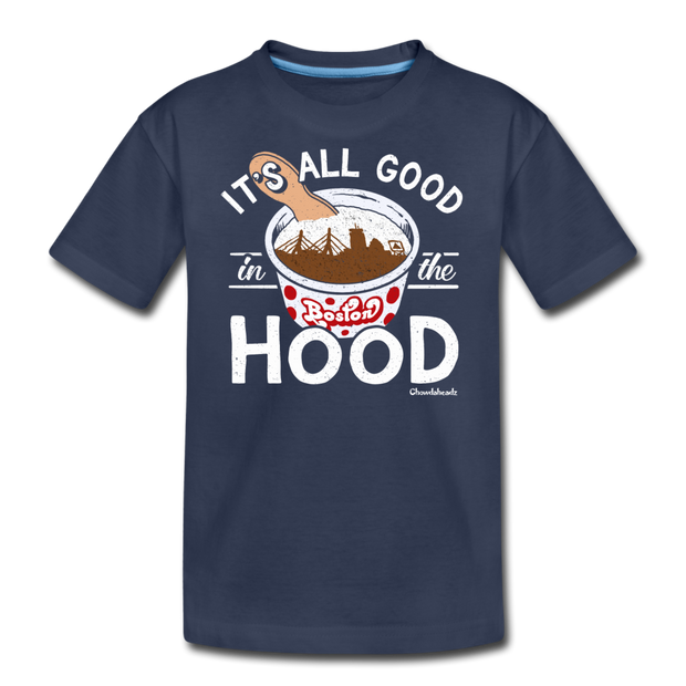 It's All Good In The Hood Youth T-Shirt - navy