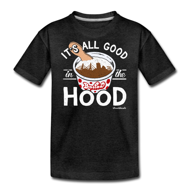 It's All Good In The Hood Youth T-Shirt - charcoal gray