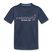 Ducks on the Common Toddler T-Shirt - navy