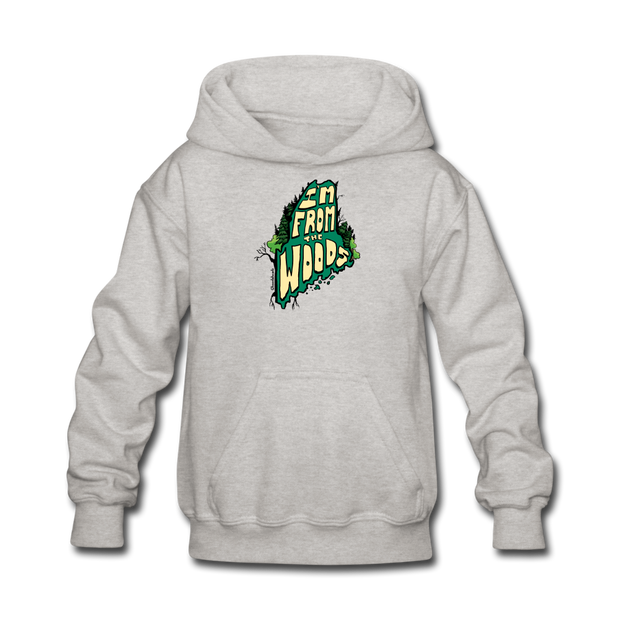 I'm from the woods Maine Kids' Hoodie - heather gray