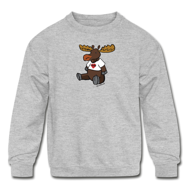 Maine Moose Kids' Crewneck Sweatshirt - heather gray