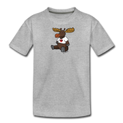 Chubby Maine  Moose Kids' Premium T-Shirt - heather gray