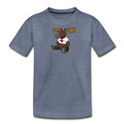 Chubby Maine  Moose Kids' Premium T-Shirt - heather blue