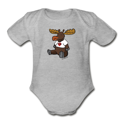Maine Moose Infant One Piece - heather gray