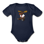 Maine Moose Infant One Piece - dark navy