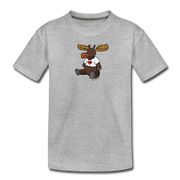 Maine Moose Toddler T-Shirt - heather gray