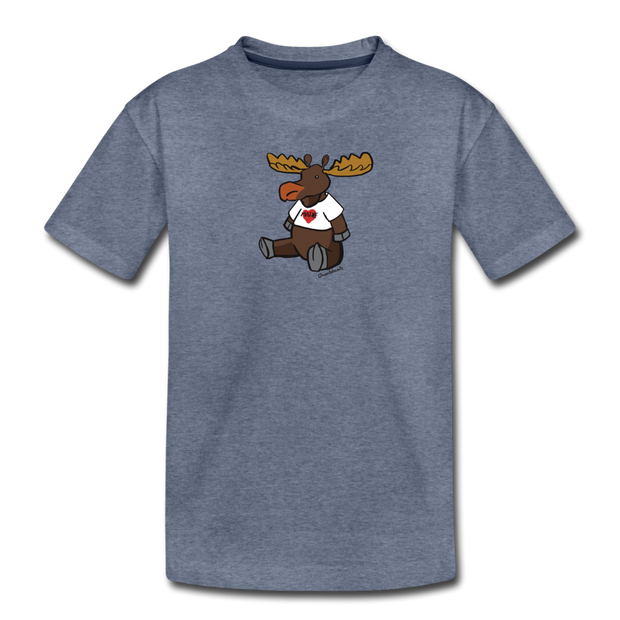 Maine Moose Toddler T-Shirt - heather blue