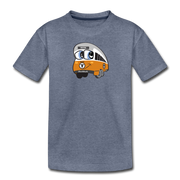 Orange Line Toddler T-Shirt - heather blue