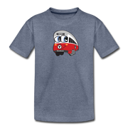 Red Line Toddler T-Shirt - heather blue
