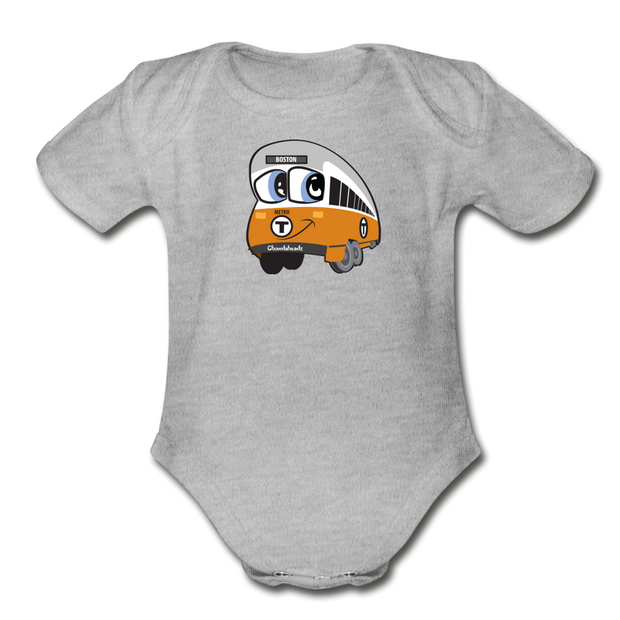 Orange line Infant One Piece - heather gray