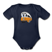 Orange line Infant One Piece - dark navy