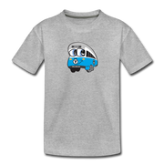 Blue line Toddler T-Shirt - heather gray