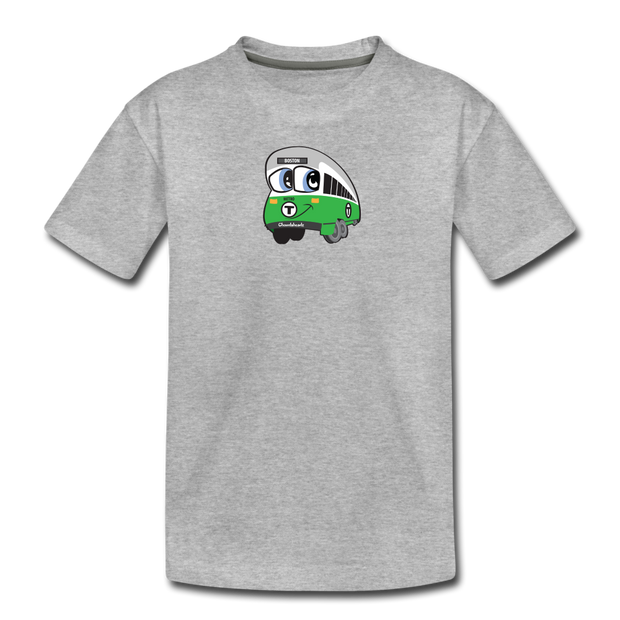 Green Line Toddler T-Shirt - heather gray