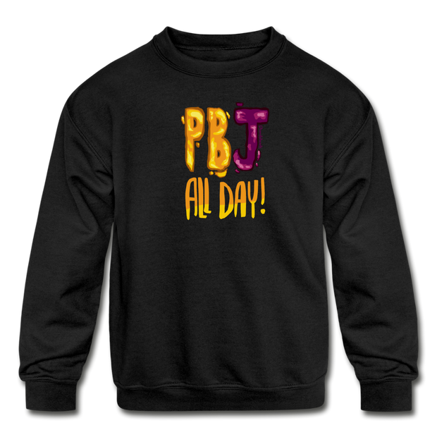 PBJ All day Kids Youth Sweatshirt - black