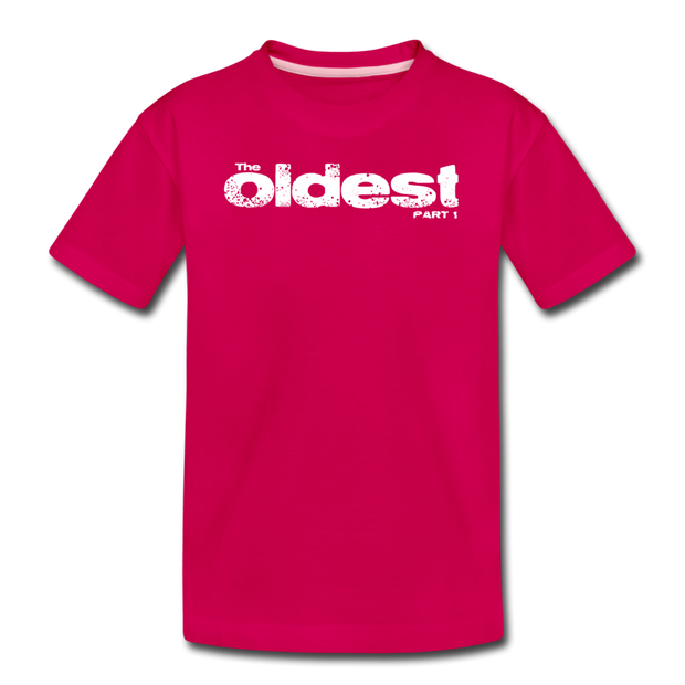 The oldest part 1 Youth T-Shirt - dark pink
