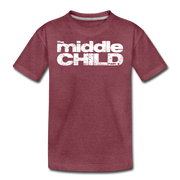 The Middle Child T-Shirt - heather burgundy
