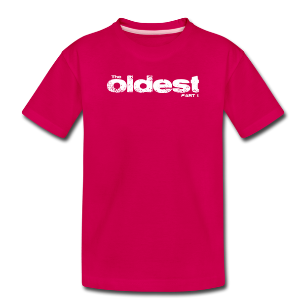 The oldest Toddler T-Shirt - dark pink