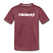 The oldest Toddler T-Shirt - heather burgundy