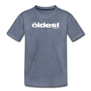 The oldest Toddler T-Shirt - heather blue